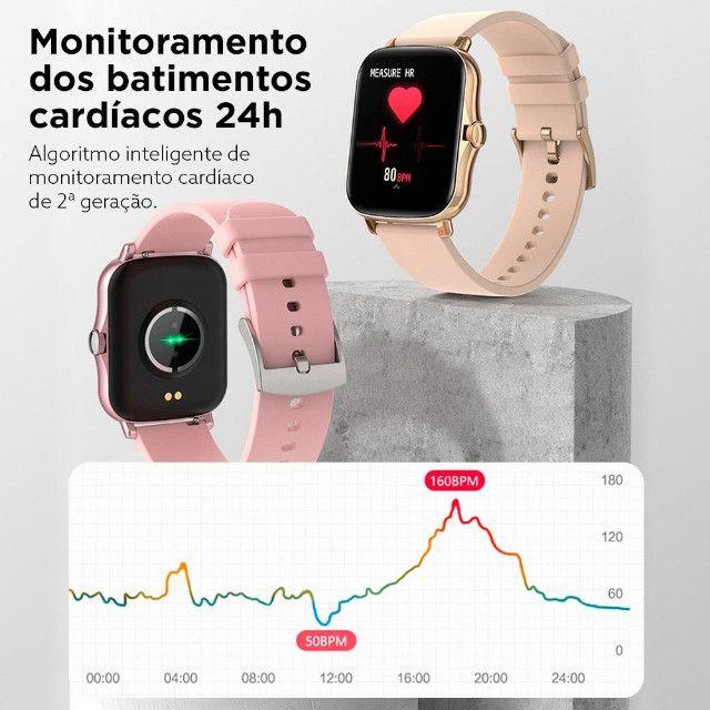 "Smartwatch Bluetooth Colmi P8 Plus Preto 1.69"" Lançamento 2021 - Foto 6"
