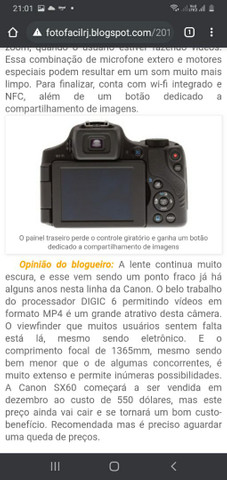 Vendo câmera Canon  Pawershot sx60 hs - Foto 4