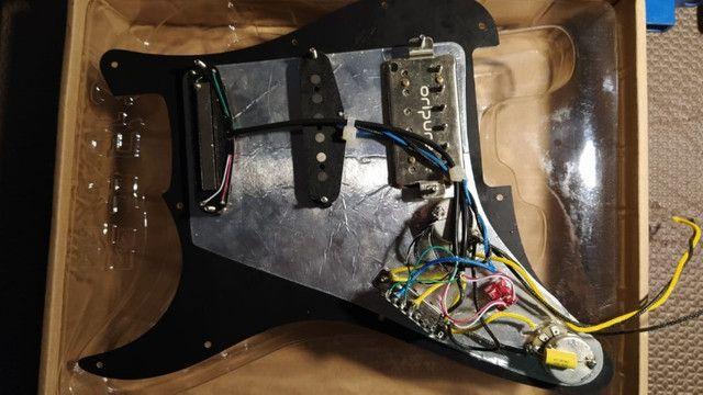 Escudo Prewired Captadores Guitar Oripure Hss Alnico5 Strato - Foto 4