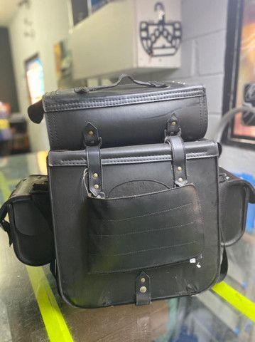 bolsa de couro ecológico para moto - Foto 4