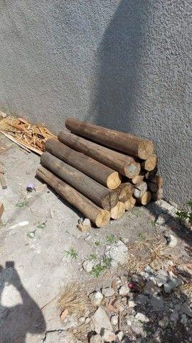 Eucalipto Roliço 1,50mts x 18a20cm - 9 pçs