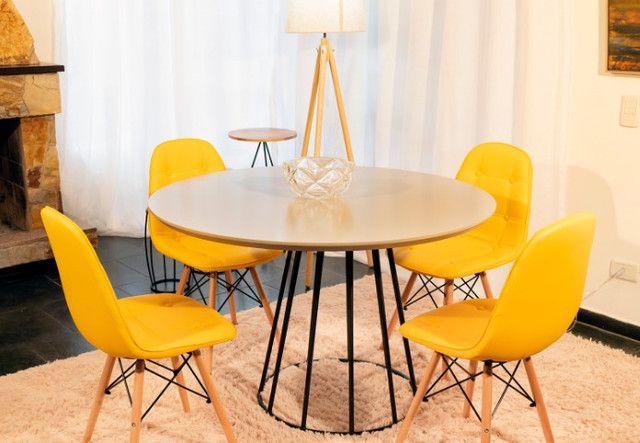 Conjunto de Mesa 1,10 de diâmetro + 4 cadeiras - Foto 4