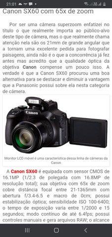 Vendo câmera Canon  Pawershot sx60 hs - Foto 2