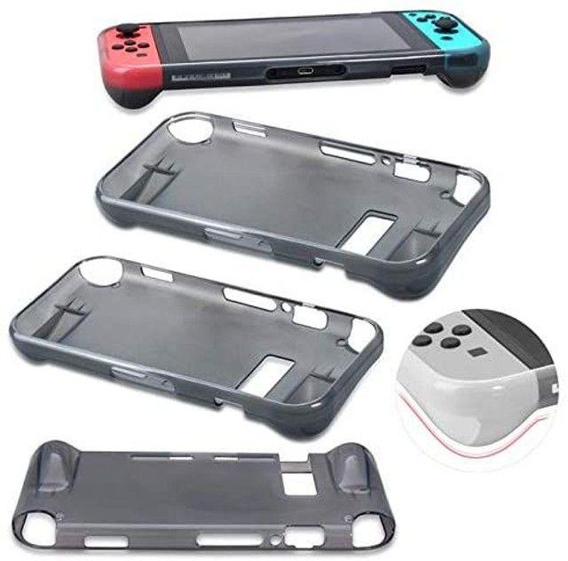 Capa Protetora Silicone Tpu Ultra Fino e Anti-Risco Para Nintendo Switch - Foto 2