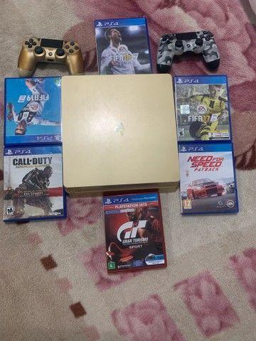 PS4 gold 1 tb edição limitada - Foto 5