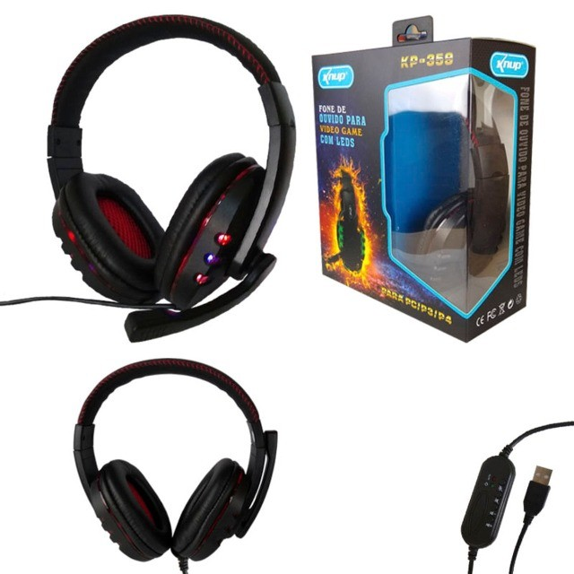 Headset Gamer Fone de Ouvido Pc Computador Lol Warzone csgo Valorant Gta 5