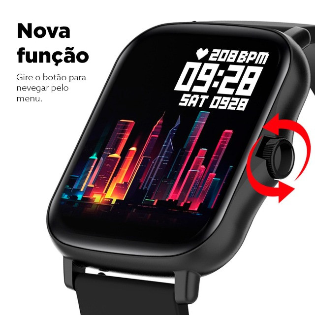 "Smartwatch Bluetooth Colmi P8 Plus Preto 1.69"" Lançamento 2021 - Foto 3"