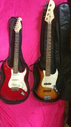 Baixo e guitarra giannini