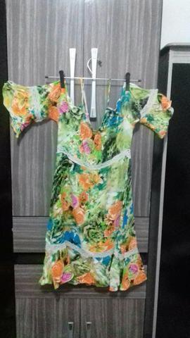 Lindo Vestido Florido Tamanho M