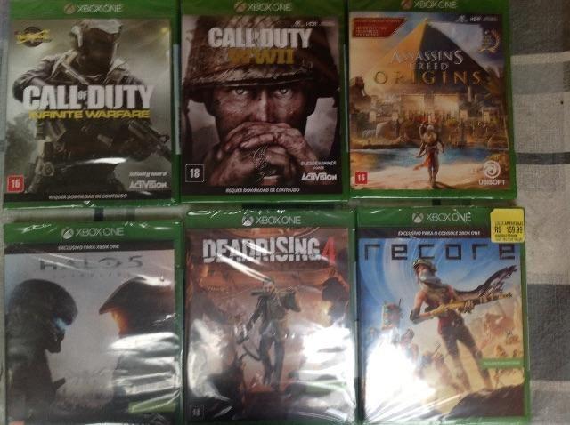 Jogos Xbox One Lacrados a partir de 50R