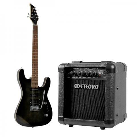 Guitarra Memphis + Cubo Meteoro + Cabo P10