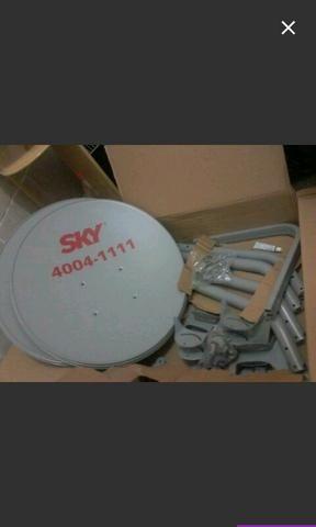 Antena de 60cm com lnb duplo50reais