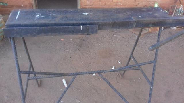 Mesa dobradeira de ferro para serralheiro