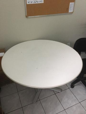 Mesa redonda escritório cor cinza