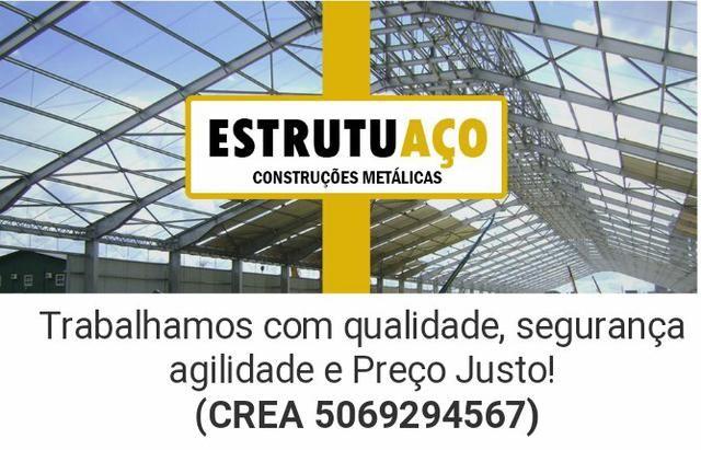 Ótimo preço em Estruturas Metálicas, Galpões e residênciais