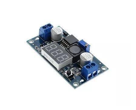 COD-AM24 Regulador Tensão Ajustável Lm2596 Step Down Dc Dc + Display Arduino -Automação