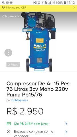 Compressor Puma 15 Pes