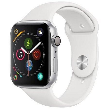 Apple Watch Series 4 44 MM MU6A2LL/A A1978 Silver/White