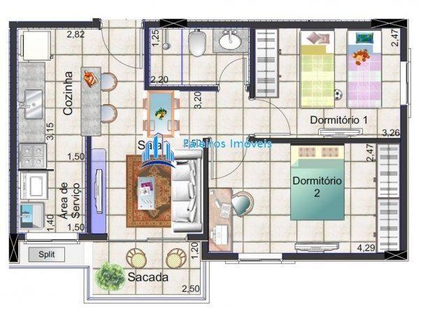 Apartamento 2 dormitórios com sacada Minha Casa Minha Vida - Apartamento em Lanç... - Foto 13
