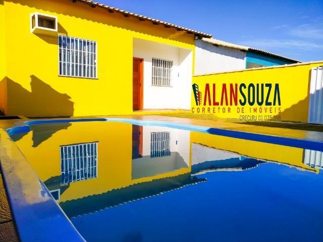 Casa de 2 quartos e piscina + área gourmet em Unamar Cabo frio
