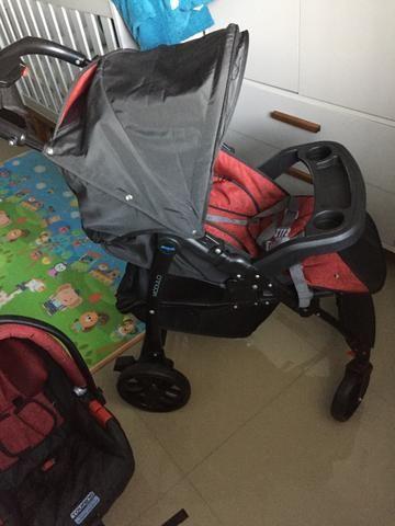 Burigotto Peg Perego Carrinho de bebê + bebê conforto - Foto 2