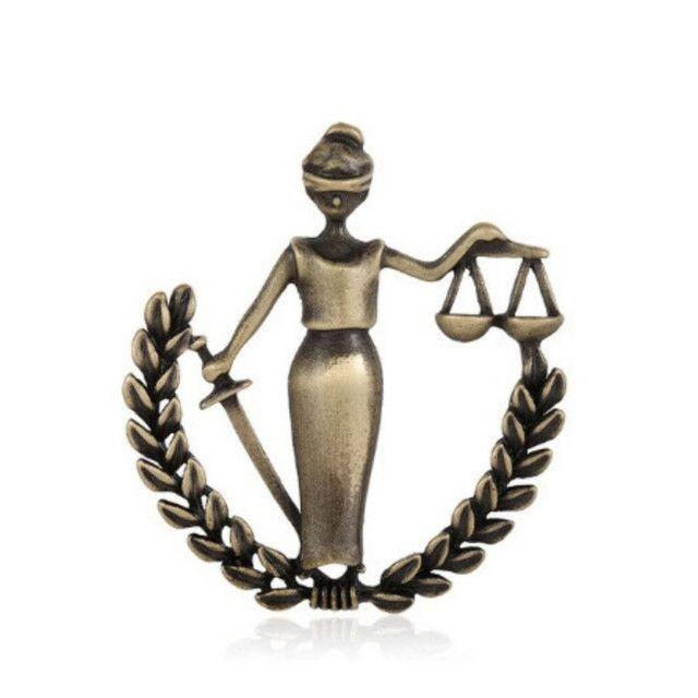 Broche da Justiça Advogada OAB - Foto 3