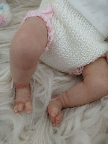Reborn mini bebezinha pronta entrega  - Foto 4