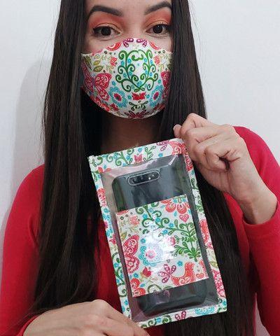 Capa protetora para celular personalizada com sua máscara! - Foto 2