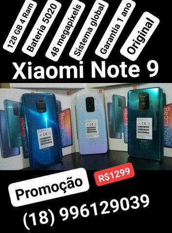 Promoção Xiaomi Note 9 128 GB 4 Ram 48 megapixels R$1299