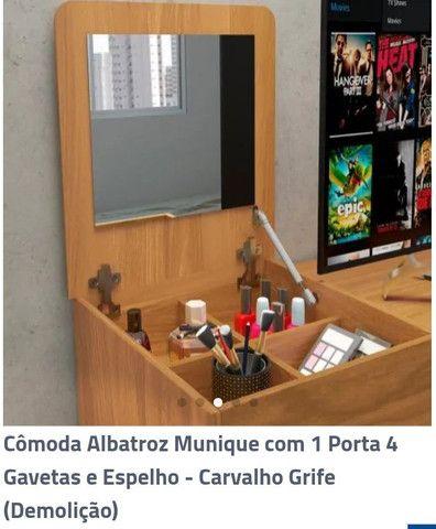 Cômoda Albatroz Munique com 1 Porta 4 Gavetas - Foto 2