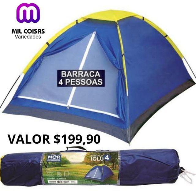 Barraca camping 4 pessoas