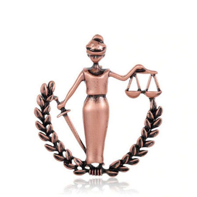 Broche da Justiça Advogada OAB - Foto 2