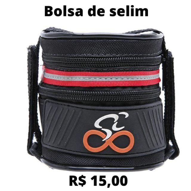 Bolsa Triangular De Quadro Para Bike Refletiva Case Bag - Foto 4