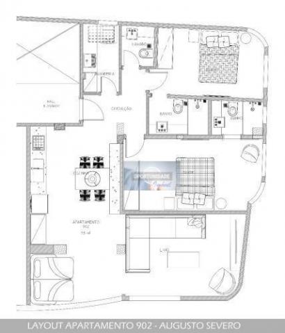 Apartamento com 3 dormitórios à venda, 140 m² por R$ 899.000,00 - Glória - Rio de Janeiro/ - Foto 3