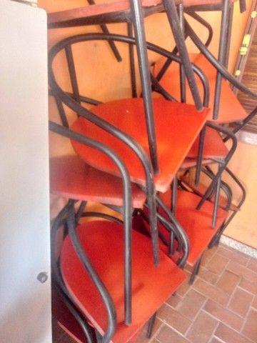 40 cadeiras de tubo industrial 7/8