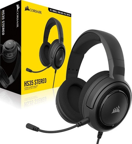 Headset Gamer Corsair HS35 P2 Stereo 2.0 Para PC, Mac, Xbox One, PS4 - Loja Natan Abreu