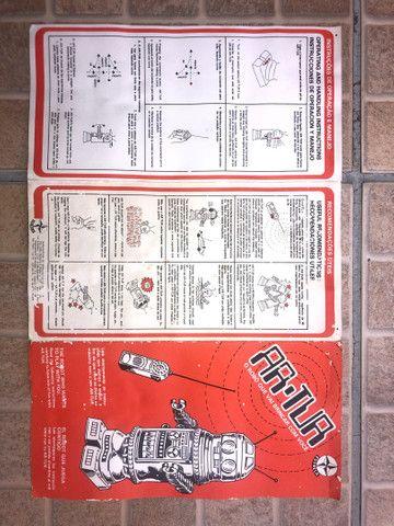 Robô Arthur - brinquedo antigo anos 80  - Foto 4