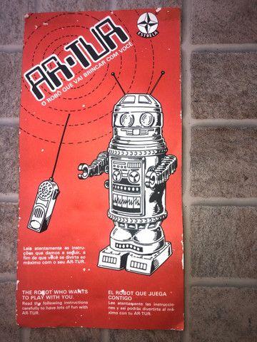 Robô Arthur - brinquedo antigo anos 80  - Foto 3