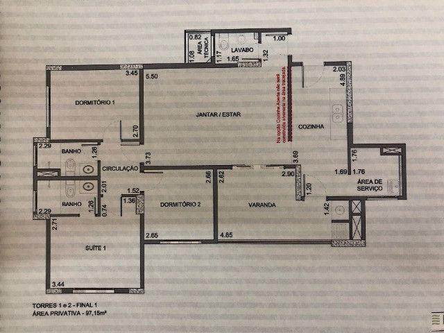 Condomínio Clube - Plaza Alta - Apto com 97.00 M2 - Foto 14