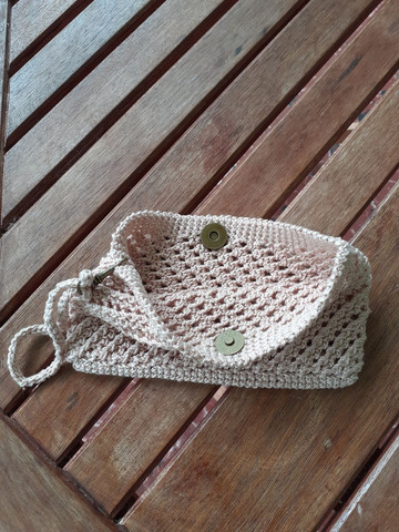 Clutch de crochê  - Foto 4