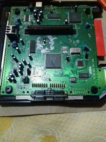 Sega Genesis 2 com cabo rca,controle novo e fonte bivolt - Foto 4