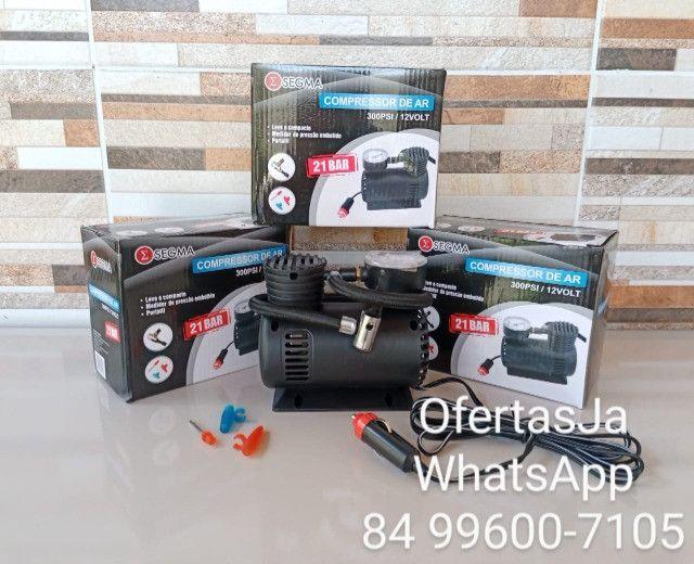 Mini Compressor de Ar Automotivo Multiuso 12v 300psi - Segma