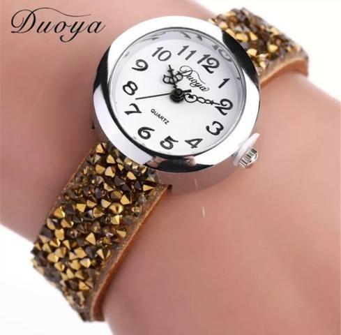 43d8fcdbc6c Relógio feminino duoya de luxo vintage - Bijouterias