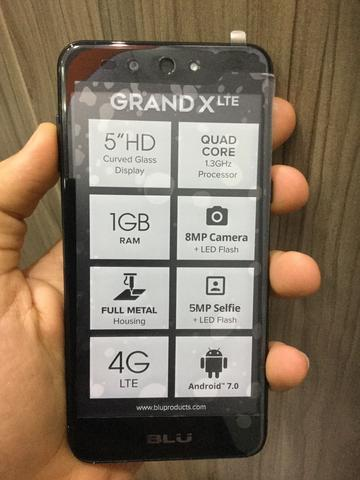 BLU Grand X lte 8GB Preto Novo!