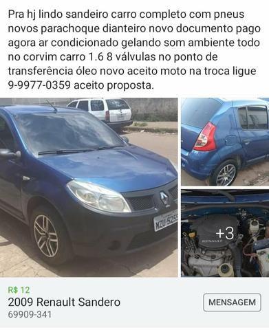 Pra Hoje Renault sandero ACEITO MOTO * - Foto 3