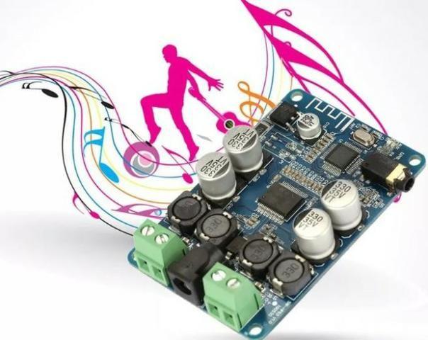 COD-AM296 Amplificador De Áudio E Receptor Bluetooth Tda7492p 25+25w Arduino Robotica - Foto 2