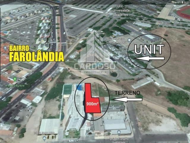 Terreno de 900m² em frente à Unit, na Farolândia, Aracaju/SE