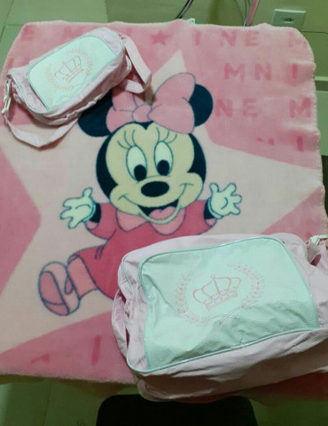 Bolsa saída de maternidade e cobertor - Foto 2