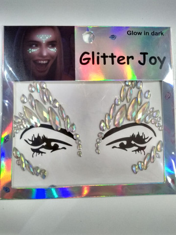 Adesivo de glitter para o rosto brilha no escuro  - Foto 2