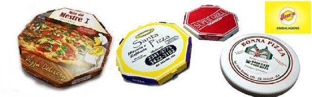 50 Caixas Embalagem Pizza Broto 25cmOitavada Fotográfica Reforçada Padrão ou Personalizada - Foto 6